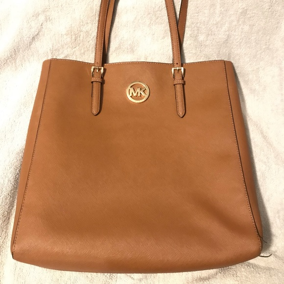 972ddac37d7c Michael Kors Leather Tote Bag | Camel |. M_5bc404d6aa877015d9e04c09